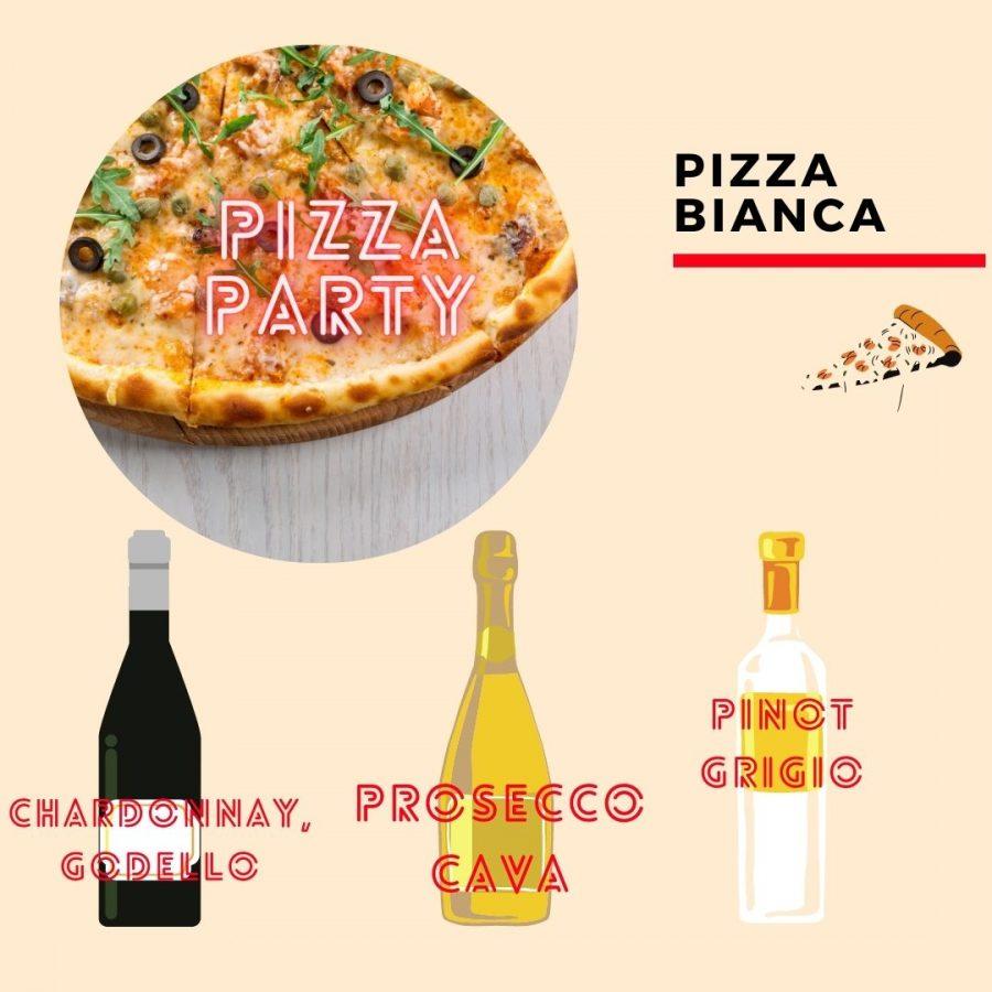 Wino i pizza - bianca