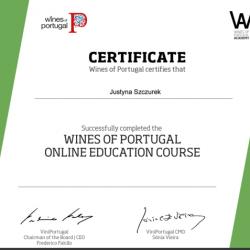 Certyfikat Wine Portuglaskie