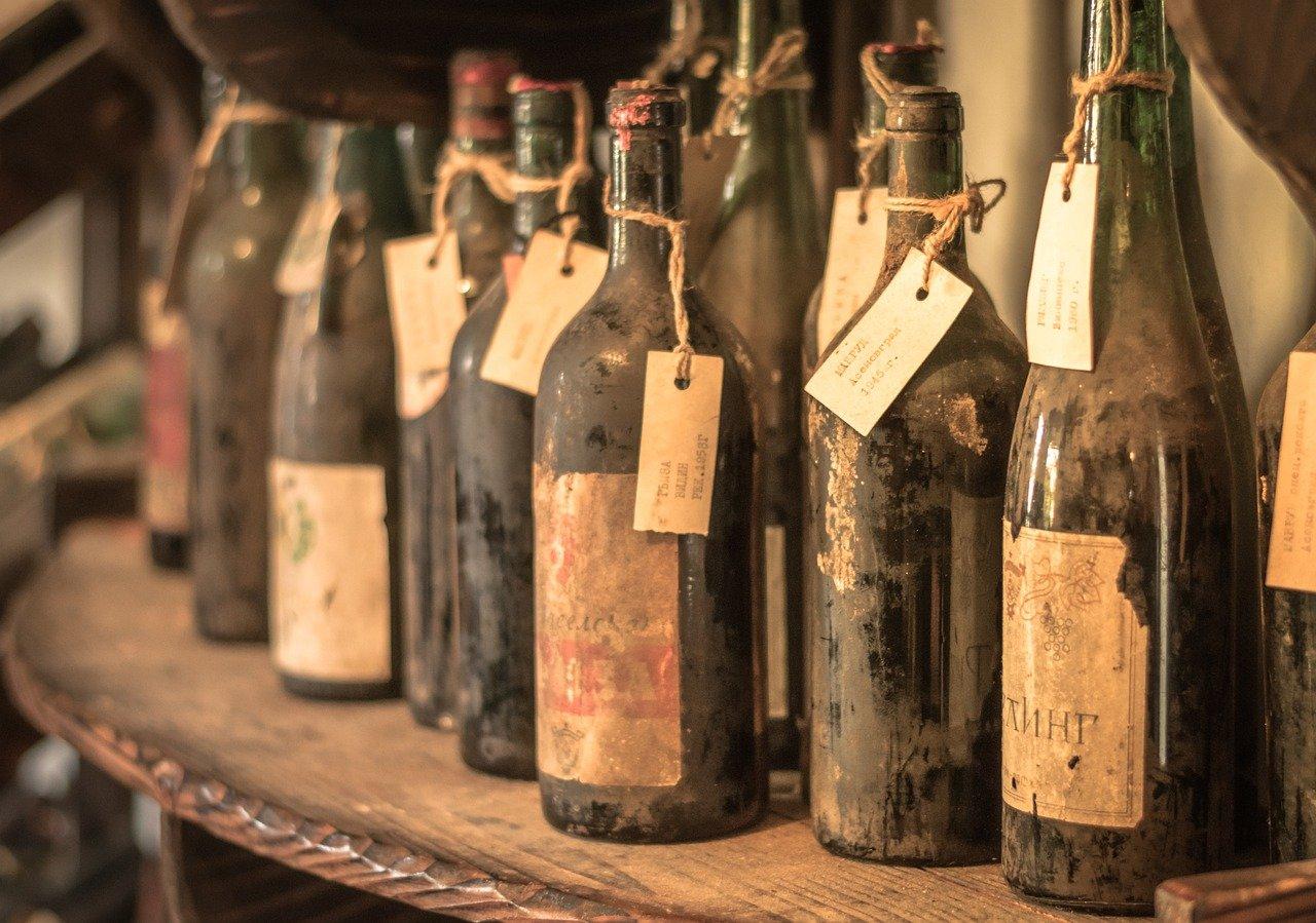 Ciekawostki o winie - stare butelki