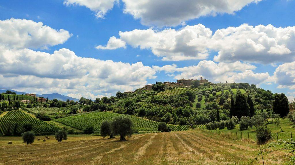 Toskańskie wzgórza, Włochy