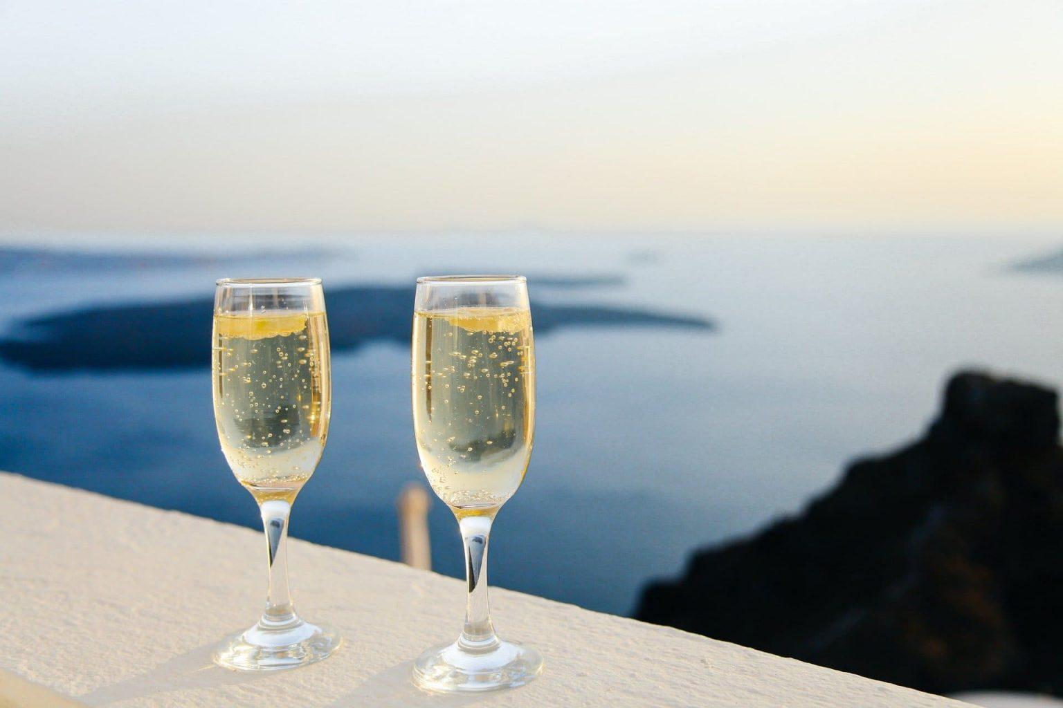 Prosecco, wino musujące, panorama
