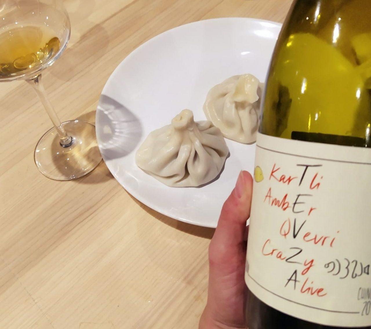 Z tęsknoty za Gruzją - wino i Chinkali